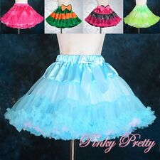 Two-ways Wear Girls Pettiskirt Petticoat Tutu Dance Skirt Kid Size 1-9 Years 007