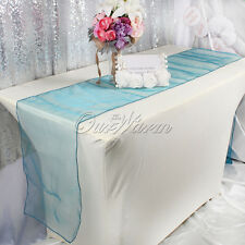 "12"" x 108"" Organza Table Runner Organza Sash Table Runner For Wedding Party Deor"