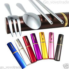 Ultra Stainless Steel Portable Lunch Tableware Cutlery Set Spoon Fork Chopsticks