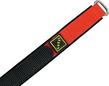 Wrist watch bands Bracelet with Velcro SPORT Nylon red 20 mm 22mm