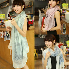 Women Girls Fashion Pretty Long Soft Chiffon Scarf Wrap Shawl Stole Scarves lot+
