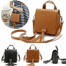 Fashion Women Faux Leather Handbag Tote Satchel Shoulder Messenger Tassel Bag