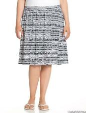LANE BRYANT ~ New NWT Sz Plus 14 16 26 28 ~ Geo Printed Soft Knit Stretchy Skirt