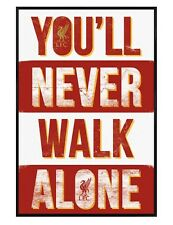 Gloss Black Framed Liverpool FC You'll Never Walk Alone Maxi Poster 61x91.5cm