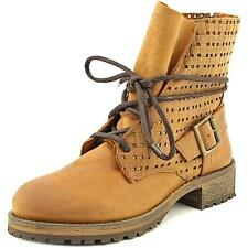 Jeffrey Campbell Perforated Lace Up Combat Women  Leather  Ankle Boot NWOB