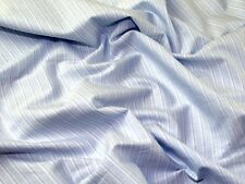 Italian Woven Pinstripe Cotton Shirting Dress Fabric (MV-XA27-Blue-M)