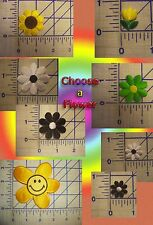 Tulip Daisy Sunflower Smiley Flower Iron On Patch Embroidery Applique Sew On EDC
