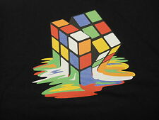 Melting Rubiks Cube - Funny Stylish Black - T-Shirt