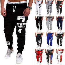 Mens Casual Sport Sweatpants Jogging Training Harem Pants Slim Cuffed Trousers