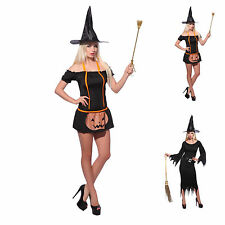 Sexy Ladies Vampire Goth Witch Costume Party Fancy Dress Halloween Costume