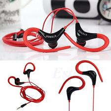 New 3.5mm In-Ear Earphones Bass Stereo Hook Headphones Headset Earbuds With Mic