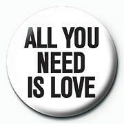 The Beatles John Lennon All You Need Is Love Badge