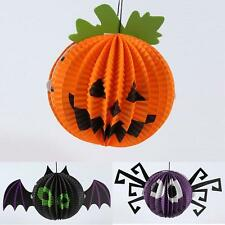 Halloween Paper Hanging Spider Bat Pumpkin Hanger Holiday Party Club Decor Props