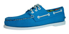Sperry Top Sider A/O 3 Eye Canvas Mens Boat / Deck Shoes - Blue - 0121