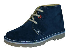 Hush Puppies Si Boys Suede Leather Desert  Boots / Shoes - Blue