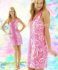 $198 Lilly Pulitzer Ryder PInk Pout PBJ Lace Front Shift Dress