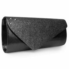 Cluch Evening bag Glitter Satin Speckles Many Colours