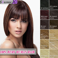 16/20'' Beauty Real Remy Human Hair Extension 8pcs 100g Clip in Many Color