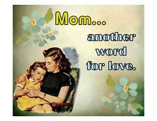 Custom Made T Shirt Mom Another Word For Love Mother's day Flowers Girl