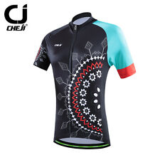 New Women's Cycling Jerseys Short-Sleeved Bike Black Breathable Clothing Tops