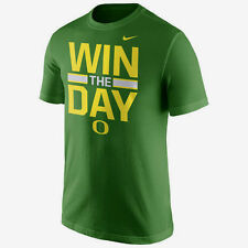 "NIKE OREGON DUCKS ""WIN THE DAY"" LOCAL VERBIAGE GREEN ATHLETIC CUT T-SHIRT NWT"