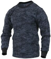 t-shirt camo long sleeve blue digital camouflage cotton poly blend rothco 68947