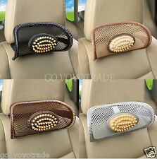 1PC Mesh Wood Beads Travel Pillow Neck Support Car Seat Cushion Chirstmas Gift