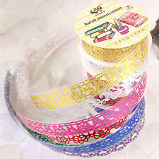 Lace Roll DIY Washi Decorative Sticky Ribbon Masking Tape Self Adhesive