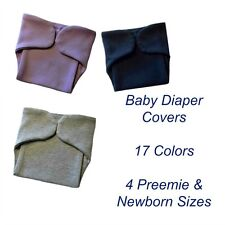Solid Color Unisex Baby Diaper Covers, 17 Colors, 4 Preemie and Newborn Sizes!