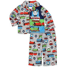 Thomas Train and Friends Little Boys Flannel Coat Style Pajamas 21TE089ECL