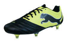 Puma Powercat 2.12 SG Rugby Mens Leather Rugby Boots - Black