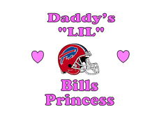 Daddy's LIL Bills Princess Buffalo girls NFL tshirt one piece