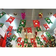 Merry Christmas Lovely Bunting Banner Party Home Decoration Tree Santa Elk Decor