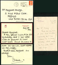 PRINCESS DIANA (1961-1907) NOTE WRITTEN & SIGNED BY THE PRINCESS 'DIANA x'  on