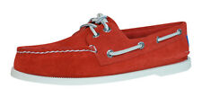 Sperry Top Sider A/O 2 Eye Suede Mens Boat / Deck Shoes - Tangerine - 3098