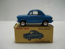 FRENCH DINKY 2-CV VESPA 400  # 24-L (529F) VINTAGE MADE IN FRANCE 1959 WITH BOX