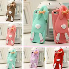 3D Cartoon Bunny Rabbit Silicone Soft Cover Case for iPhone 4 4S 5 5S 6 6S Plus