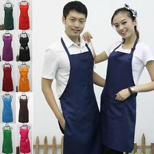 12 Colors Unisex Working Apron Waterproof Polyester Cookhouse Kitchen Cook Apron