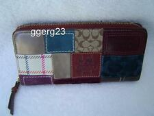 AUTHENTIC COACH HOLIDAY PATCHWORK ZIP AROUND WALLET  GUC