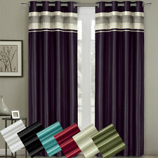 Milan Grommet Blackout Multiple layers Fabric Window Curtains Single Panel