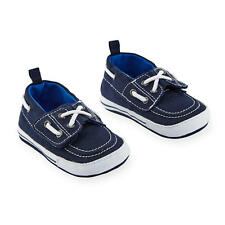 Koala Baby Boys Canvas Faux Lace Up Soft Sole Boat Shoes with Touch Closure