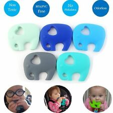 Cute Baby Silicone Pacifier Teething Toy Popular Chew Elephant Pendant Teether B