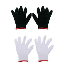 12 Pairs Nylon Safety Coating Work Gloves Builders Grip Protect S M L Cool