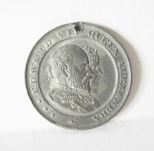 Coronation Of King Edward VII  With Queen Alexandra 1902Souvenir Medal By Pope