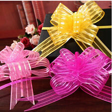 50mm Large Organza Ribbon Pull Bows Various Colours Wedding/Party/Giftwrap Chic