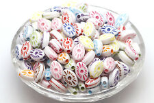 Wholesale 200pcs Ellipse Spacer Beads Mixed Loose Beads Jewelry Findings 4*8mm