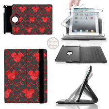 Mickey Mouse Watercolor Red 360 Rotate Case - fits iPad Kindle Samsung Galaxy