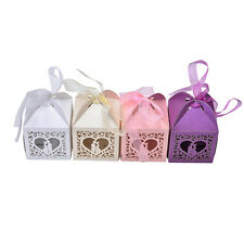 Special Love Heart Favor Ribbon Gift Box Candy Boxes Wedding Party Decor