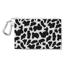 Woody Cowhide Canvas Zip Pouch - Pencil Case Multi Purpose Makeup Bag