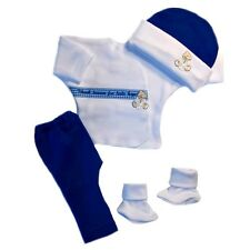Baby Boys' Happy Feet Thank Heaven Clothing Outfit 4 Preemie and Newborn Sizes